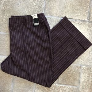 NWT New York & Co Houston Crop Striped Purple Pant